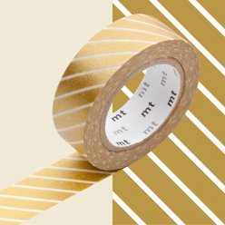 masking tape mt 15 mm raye or et blanc