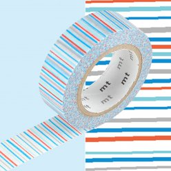 masking tape mt 15 mm rayures multicolores
