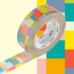 masking tape mt 15 mm mosaic couleurs vives