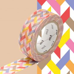 masking tape mt 15 mm entrelacs tons chauds