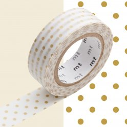 masking tape mt 15 mm pois fins or