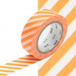 masking tape mt 15 mm raye orange et blanc
