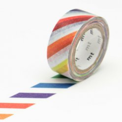 masking tape mt kids 15 mm rayure multicolore