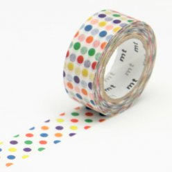 masking tape mt kids 15 mm pois multicolore