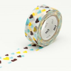 masking tape mt kids 15 mm coeur multicolore
