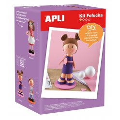 kit mousse thermoformable poupee fofuchas fille