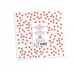 serviettes etoiles rouges 33 cm 20 pieces