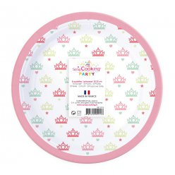 assiettes princesse 8 pieces