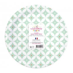 assiettes rosace 8 pieces