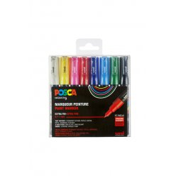 marqueurs posca pc1mc conique extra fine basic 8 pieces