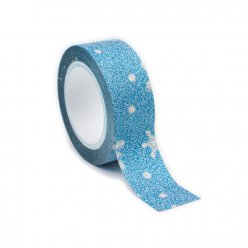 masking tape paillete 15 mm flocon bleu