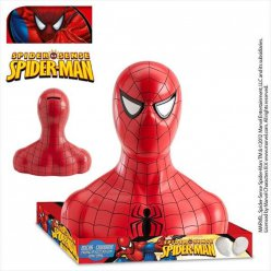 figurine tirelire spiderman sucettes