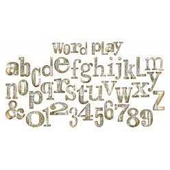 die bigz xl pochoir alphabet tim holtz