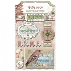 chipboard garden journal 6 pieces