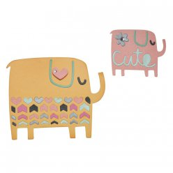 sizzix thinlits die  elephant duo 4 pieces
