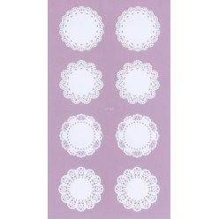 sticker dentelle napperon 16 pieces