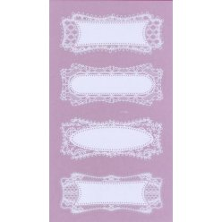 sticker dentelle rectangle 8 pieces