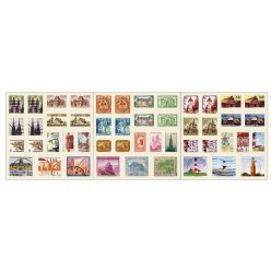 timbres stickers autocollants monument 6 feuilles