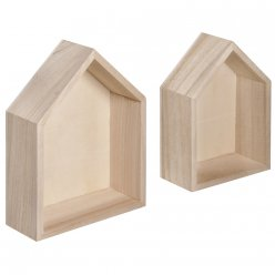 cadres maison 14x10x4 cm125x85x4 cm lot de 2 pieces