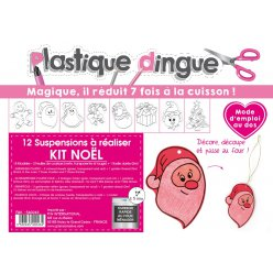 kit plastique dingue pour 12 suspensions de noel