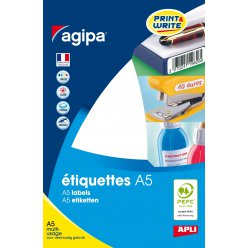 etiquettes blanches 16 feuilles a5 o15mm 1536 pieces