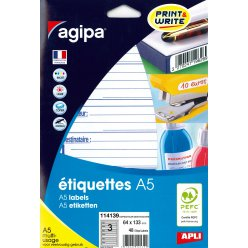 etiquettes expediteurdestinataire a5 64 x 133 mm 48 pieces