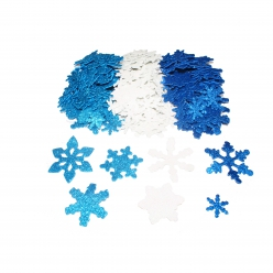 sticker en mousse flocons de neige pailletes 240 pieces