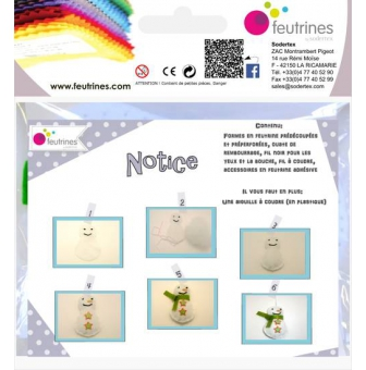 kit bounty le bonhomme de neige lot de 10