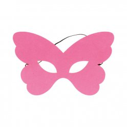 masque en feutrine papillon rose