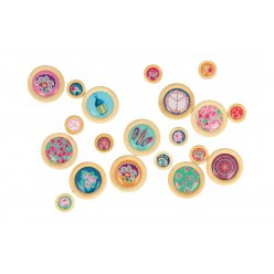 bouton a coller flower power 20 pieces