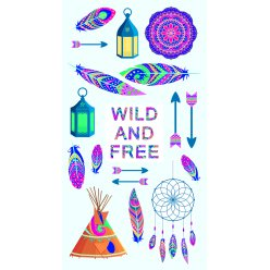 stickers relief puffies wild et free