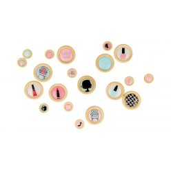 bouton a coller fashionista 20 pieces