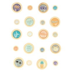 bouton a coller sweet memories 20 pieces
