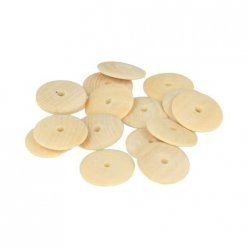 perle bois lucy cabochon rond 25mm 26 pieces
