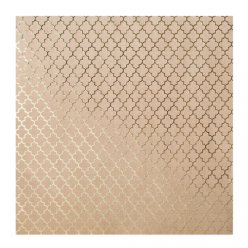 papier kraft a effet dore 30x30 cm lattice