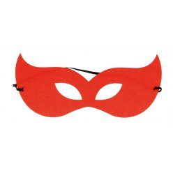 masque en feutrine star rouge