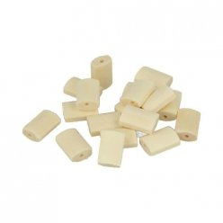 perle bois lucy rectangle plat 105x154mm 18 pieces
