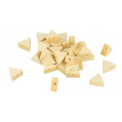 perle bois lucy triangle 11x97x49mm 35 pieces