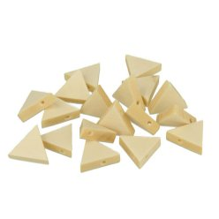 perle bois lucy triangle 17x19x47mm 20 pieces