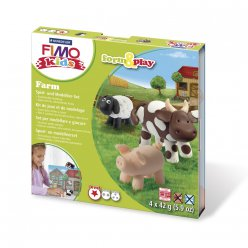 kit pate fimo kids la ferme 803401 ly