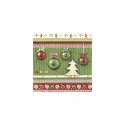 serviettes 33x33 cm joy christmas