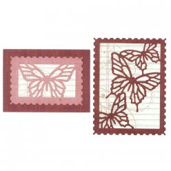 die thinlits set  butterfly cards