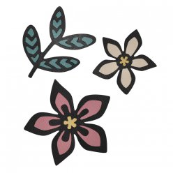 sizzix thinlits die  african florals 3 pieces