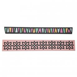 sizzix thinlits dies  bordures tribal 2 pieces