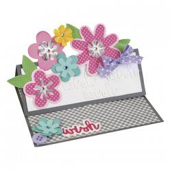 sizzix thinlits die  flower layersetleaf 11 piece