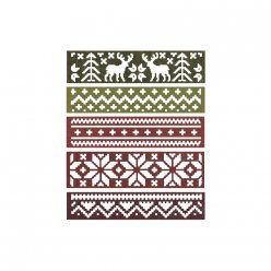 sizzix thinlits set  snowfall et holiday