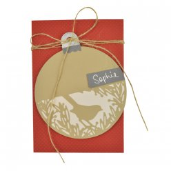 sizzix thinlits kit  festive bird