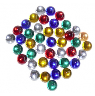 cabochons adhesifs x100 assortis lisses