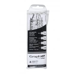 graph it pochette de 4 fine liners noir 003 01 03 05