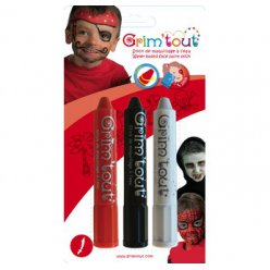 crayons maquillage sans paraben 3 sticks piratevampire